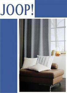 70029 joop allover fertigschal sen schal vorhang gardine 140 x 250 cm 010 grau ebay. Black Bedroom Furniture Sets. Home Design Ideas