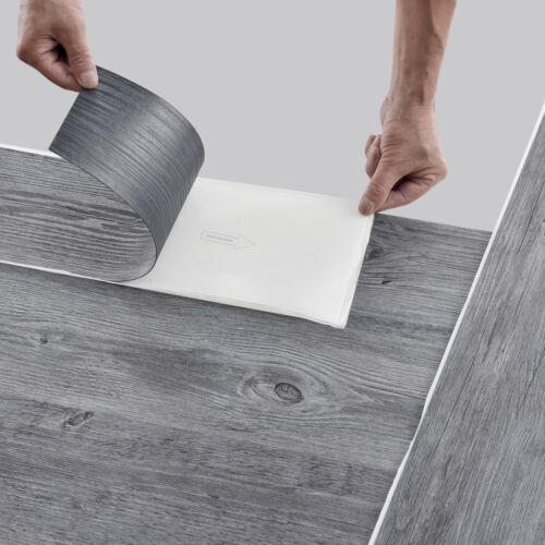 ca.4m² Vinyl Laminat Selbstklebend Eiche Grau Dielen Planken Vinylboden