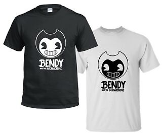 Bendy and the Ink Machine Shirt Official Bendy T Shirt Black and White Bendy Boys T Shirt