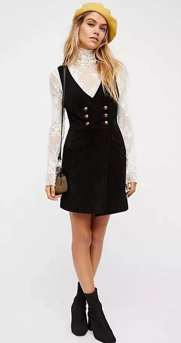Free People Stevie Mini Dress Size 8 NEW MSRP   198 Suede
