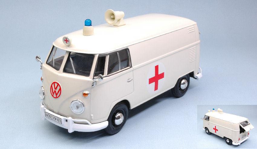 Volkswagen VW VW VW Type 2 (T1) Delivery Van 'rojo CROSS AMBULANCE' 1 24 Model MOTORMAX 518e64