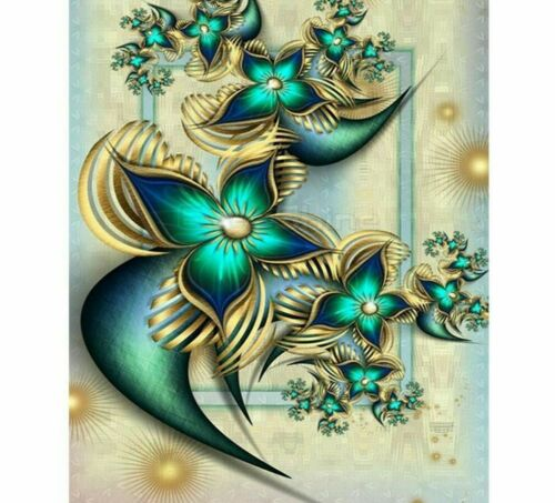 Diamond Flower Design Painting 5D DIY Embroidery Full Square Drills Home Display
