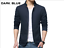 NEW-Men-039-s-Jacket-Slim-Fit-Collar-Cotton-Coat-Fashion-Casual-Outwear-Jacket-Coats thumbnail 11