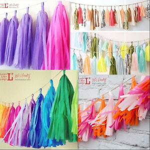 New-5Pcs-Tissue-Paper-Tassels-Garlands-Bunting-Party-Wedding-Home-Decoration