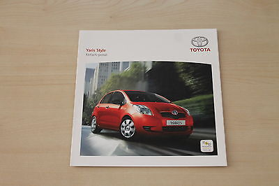Toyota Yaris Style Prospekt 09/2007 Quell Sommer Durst 172093