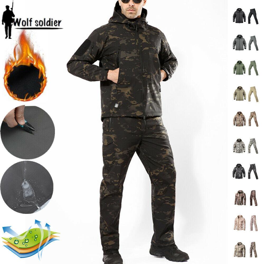 Windbreaker para hombres  pantalones tácticos militares Soft Shell Chaqueta Impermeable uniforme  alta calidad