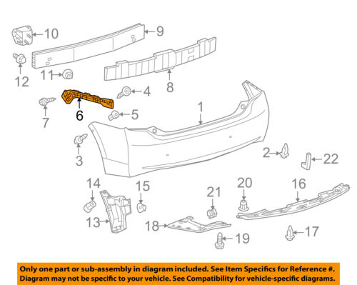 TOYOTA OEM 10-15 Prius Rear Bumper-Side Retainer Bracket Left 5257647021