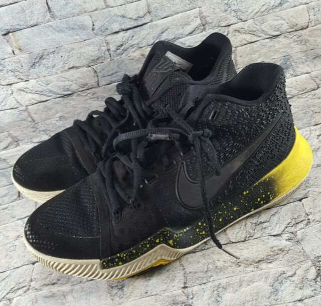 online store f87c1 4557f Nike Kyrie 3 Black Yellow White Mamba Mentality Bruce Lee 852395-901 Shoes  Sz 8