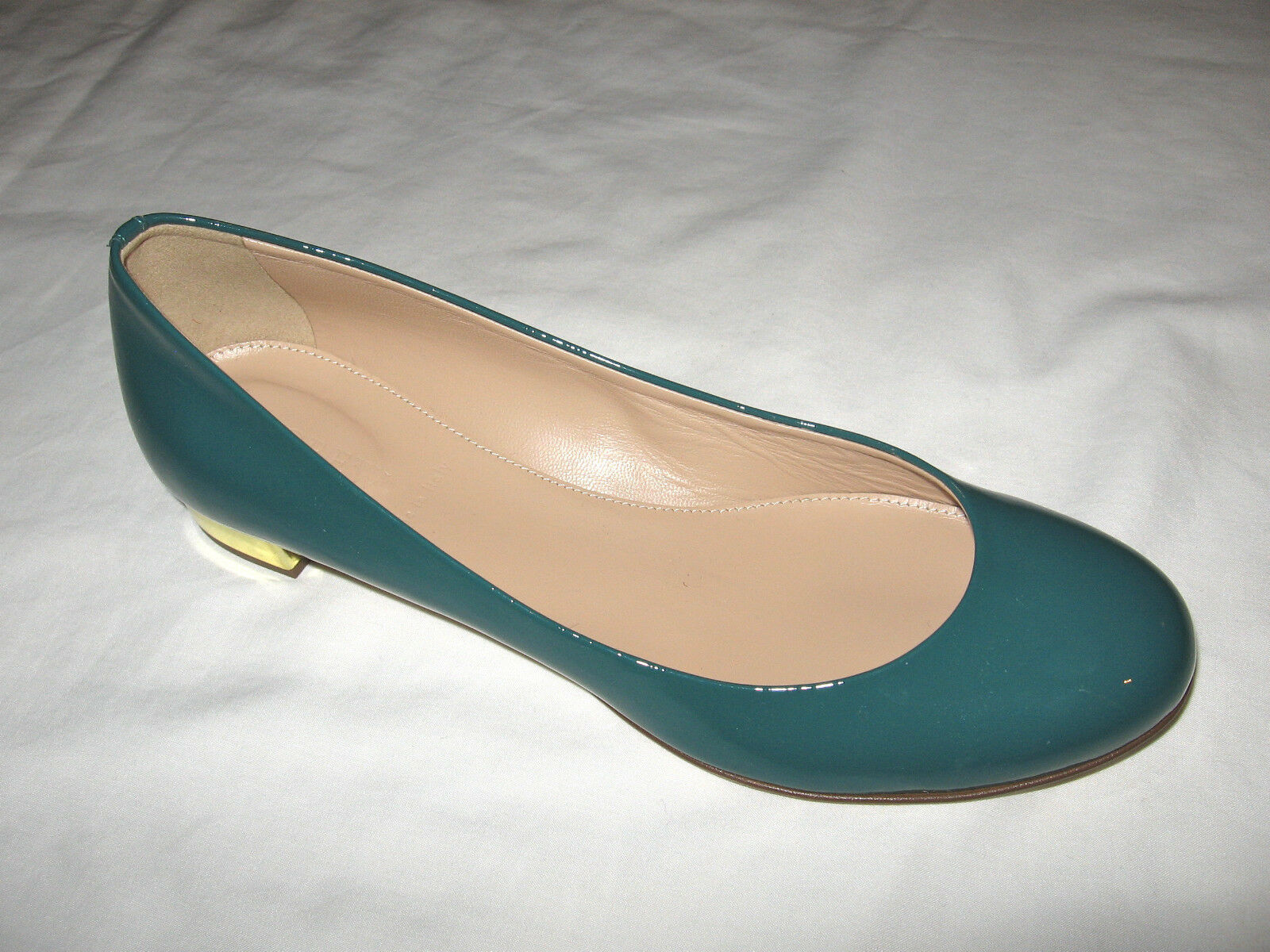J.Crew New In Box Janey Patent Flats Color:Dusty Jade Retail:$178+Tax