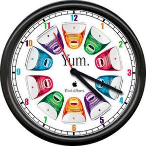 Apple Computer Dealer Yum Colorful Desktop Art Sign Wall Clock