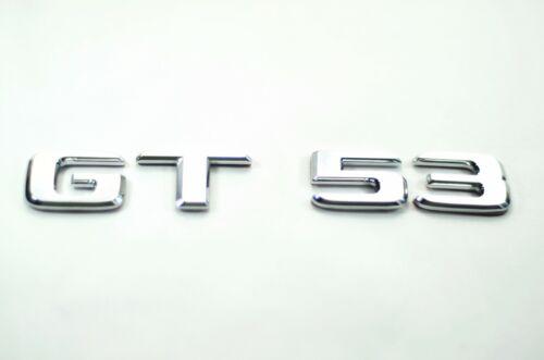 GT53 GT Aufkleber Deckel Emblem Schriftzug Badge Sticker Chrome