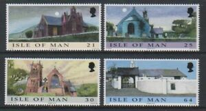Ile-de-Man-1999-Noel-Eglises-Ensemble-MNH-Sg-857-60