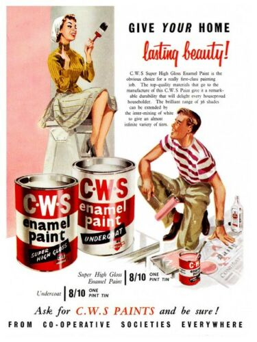 CWS Paints Old  Advert poster reproduction