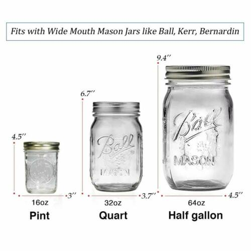 4//6PCS Seed Sprouting Lid For Wide Mouth Mason Canning Jar Stainless Steel Lids