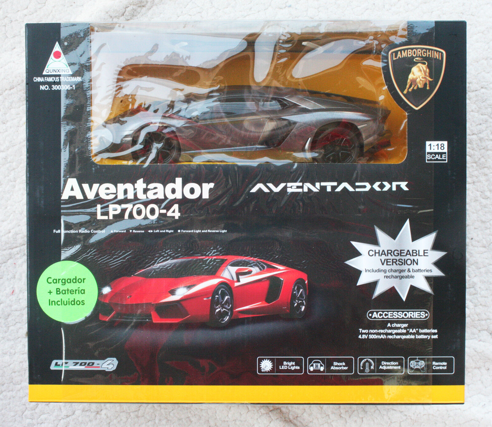 Lamborghini aventador lp700-4, kostenpflichtigen version 1,18.sehr selten - box, neue