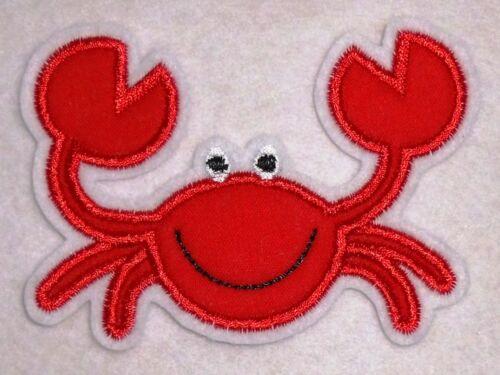 rote Krabbe Aufnäher Krebs Applikation