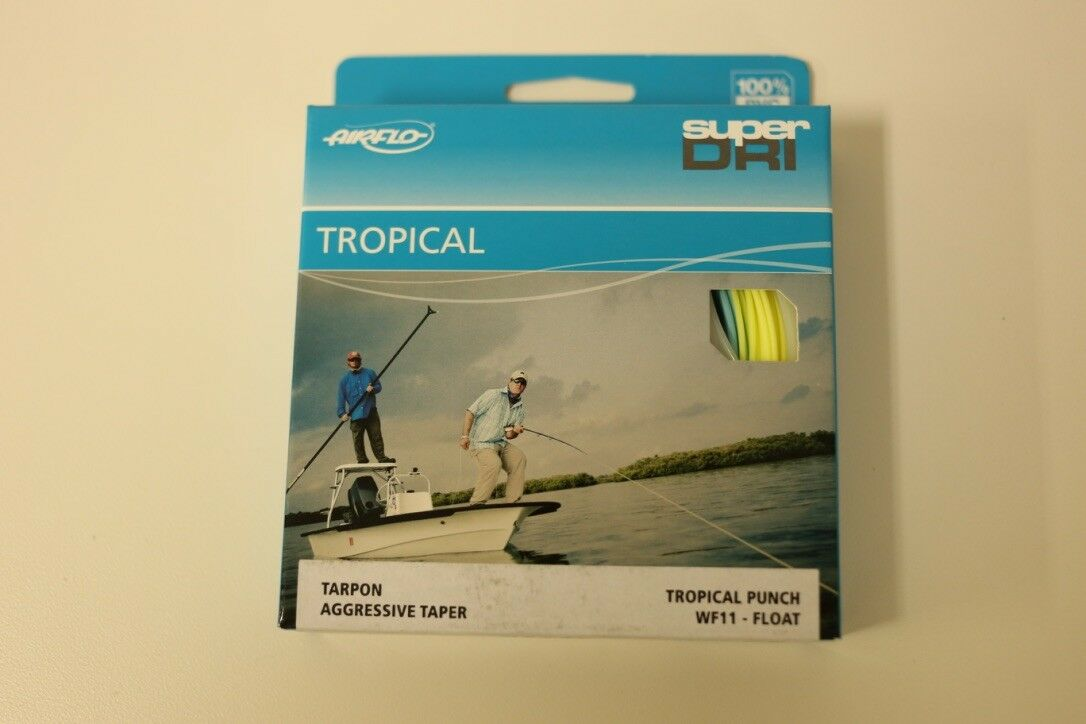 Airflo Chard's Tropical Punch WF11F Fly Line Sky bleu jaune Libre Fast Shipping