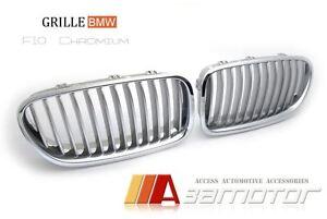 bmw f10 f11 f18 5 series 528 535 550 titanium front kidney grills