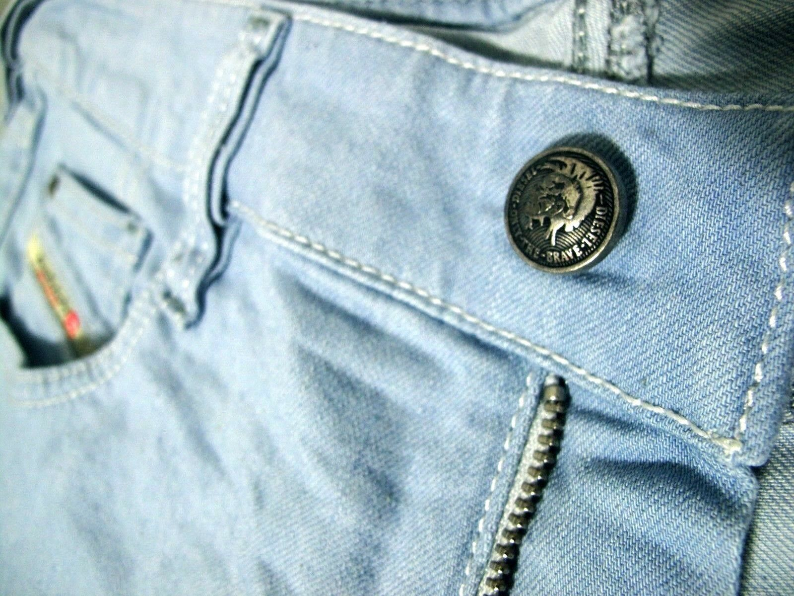 HOT  Women DIESEL @ YBO 8TH WIDE LEG FLARE LIGHT STRETCH Denim Jeans 12  31 x32