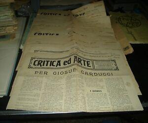 lotto-11-riviste-CRITICA-ED-ARTE-anno-I-1907-RIVISTA-CATANESE-LETTERATURA