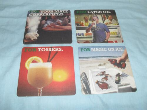 """SET OF 4 VB VICTORIA BITTER /""""FOR/"""" SERIES DRINK COASTERS NEW UNUSED BEER MATS"""