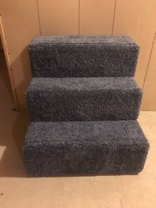 Image Is Loading 3 Step Fully Carpeted Solid Wood Dog Steps
