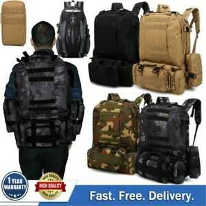 55L-Outdoor-Military-Tactical-Backpack-Rucksack-Camping-Bag-Travel-Hiking