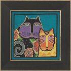 Feline Friends Cross Stitch Kit Aida Mill Hill 2015 Laurel Burch LB305116
