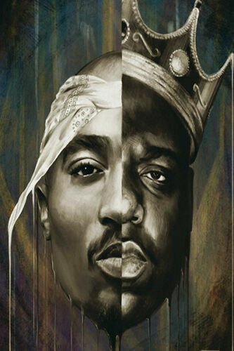 "The Notorious B.I.G Crown Poster Hip Hop Art Rap Print 13x20/"" 20x30/"" 24x36"