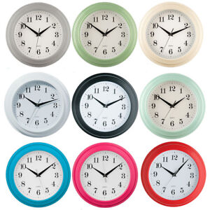 Small-Round-Wall-Clock-Plastic-Antique-Vintage-Style-Bedroom-Kitchen-Quartz-Time