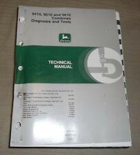 John Deere 9410 9510 9610 Combine Technical Service Shop Op Test Manual Tm1702