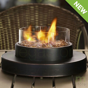 Details About Propane Fire Pit Tabletop Outdoor Patio Heater 6000 BTU  Portable Fire Bowl