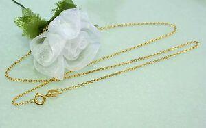 Feine Halskette 18 Kt Goldkette In 750 Gold 40 Cm Unikat Neu Schönes Geschenk GroßE Auswahl;