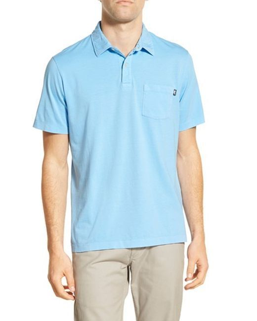 Vineyard Vines Men's Slim Fit Pigment Dyed Polo Shirt Ocean Breeze (XS)