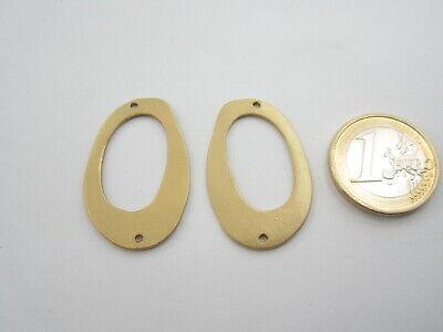 2 basi x orecchini rombo  in zama placcato oro giallo satinato diametro 21 mm