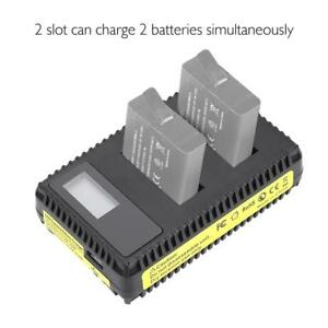 For-Gopro-7-6-5-Session-Camera-Battery-Charger-Plastic-2-Slot-USB-Port-Charging
