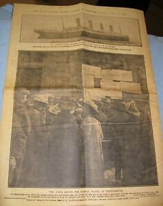 1912-RMS-TITANIC-Newspaper-Daily-Graphic-Vintage-Photos-Old-Ship-Sinking-Retro