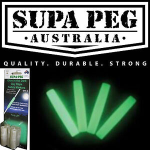 SUPA PEG Glow In the Dark Guy Rope Safety Markers For ...
