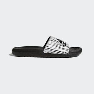0b0e54a3c2de5 Details about Adidas Men's Voloomix GR Slide Sandals GG8 Core Black / Core  Black/ White CP9450