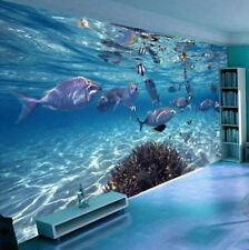 Deep Ocean Color World 3D Full Wall Mural Large Print Wallpaper Home Decal Decor
