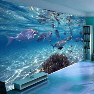 3d Wallpaper Bedroom Mural Modern Undersea World Tv Background Wall