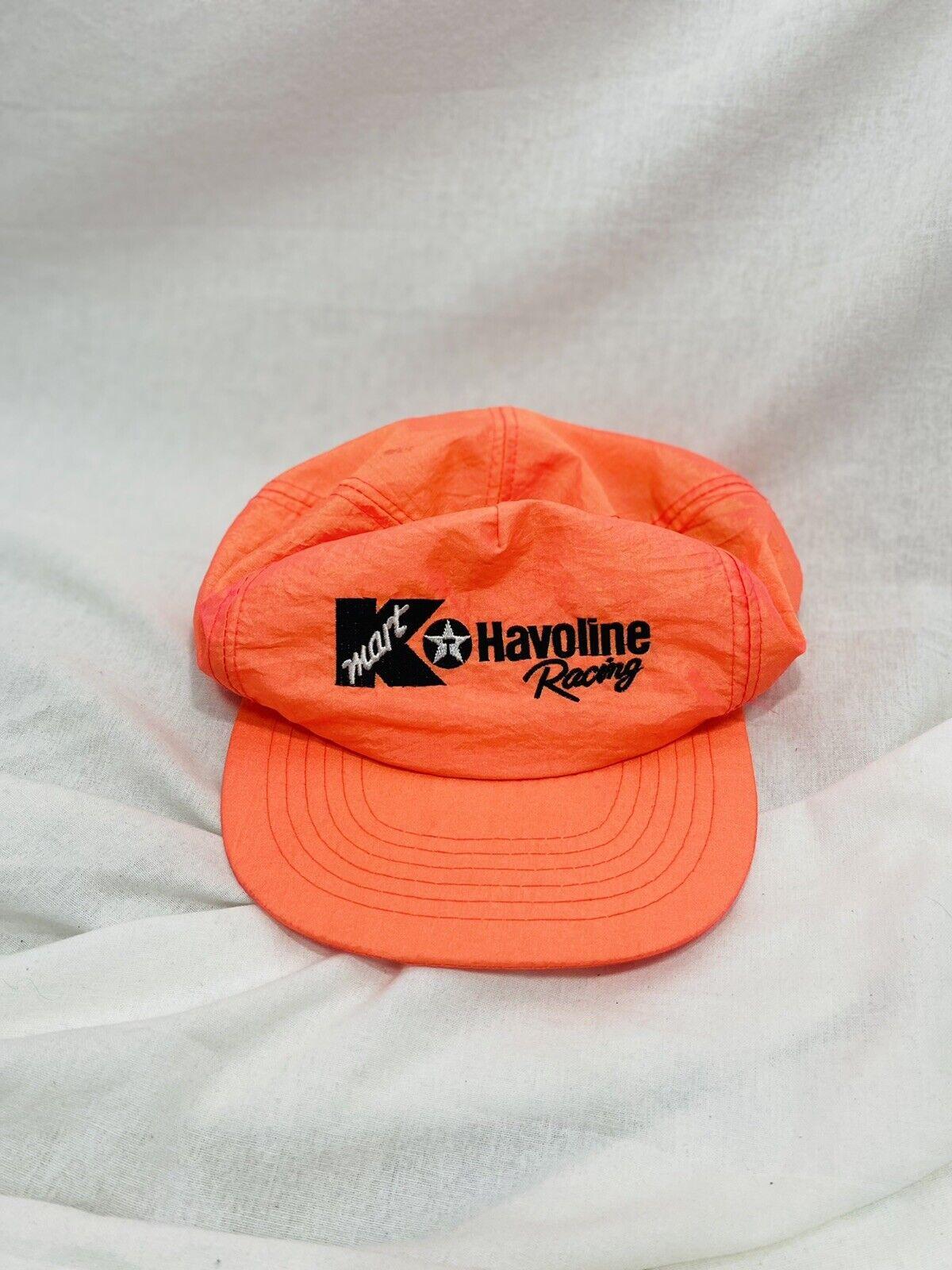 Vintage Neon Flourescent Orange KMart Havoline Racing Snapback Hat by Clark