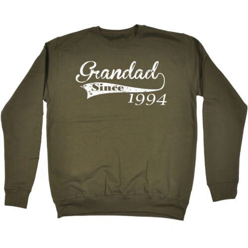 Grandad Since Any Year SWEATSHIRT Father Personalized Top Funny birthday gift