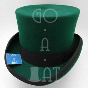 a1f2c09c3c9 Image is loading Wool-Felt-Topper-Top-Hat-Men-Tuxedo-Victorian-