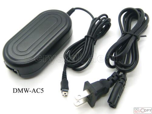 Adaptador de CA para DMW-AC5 Panasonic DMC-FX9 DMC-FX10 DMC-FX12 DMC-FX30 DMX-FX33