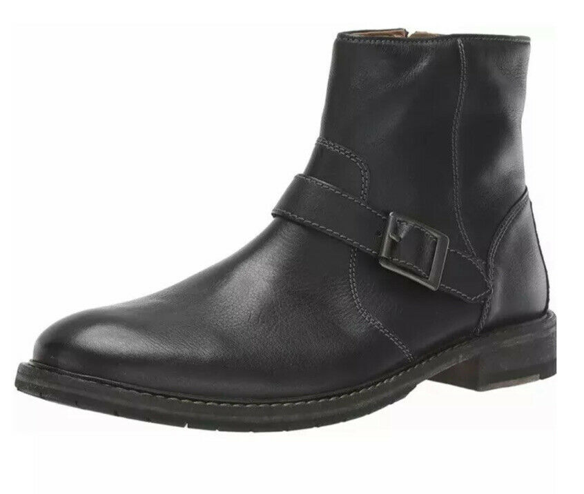 New Clarks UK 6.5 G /EU 40 Clarkdale Spare Mens Black Leather Ankle Boots