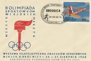 Poland-postmark-BRODNICA-sport-olympiad-analogous