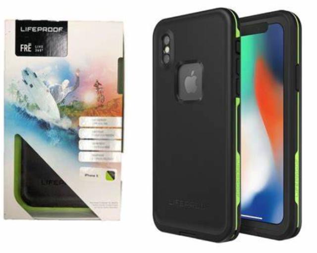 Lifeproof FRĒ SERIES Waterproof Case for iPhone X - NIGHT LITE (BLACK/LIME)