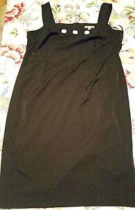 dde51b85 Image is loading NWT-Maya-Brooke-14W-Black-Dress-With-White-