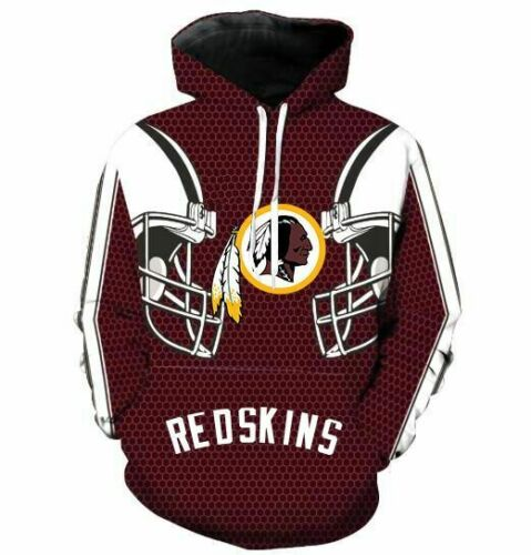 Washington Redskins printed Pullover Pocket Sport Hoodies S-3XL 8460